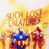 "lorax: An icon of the Avengers, with text reading ""Such Lost Creatures"" (MCU - Group ""Lost Creatures"")"