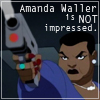 bluefall: Amanda Waller looking badass and displeased. (the Wall is not impressed.)