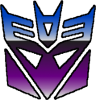 stainless: the Decepticon faction symbol, blue and purple chrome (decepticon)