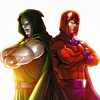 xdoop: (Magneto and Doom.)