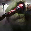 isagel: The Hulk lying on his back, his arm wrapped around Iron Man lying on top of him. (avengers hulk/iron man)