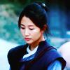 amihan: predominantly blue image of im jeung eun as heo yoon yi in 'joseon x-files', looking down ([joseon x-files] yoon-yi (blue))
