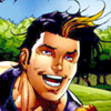 powerboy: 16 year old Powerboy smiling. Last fun moment on panel before being brutally murdered. (Powerboy Smile)