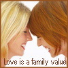 lerah99: Two women in love (Love is a Family Value)