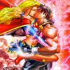 powerboy: (Supergirl #15. Dark Angel hijacks Father Box causing Powerboy & Supergirl to make out, then fight.) (Supergirl/Powerboy: Passion)