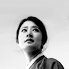 amihan: black and white image of im jeung eun as heo yoon yi in 'joseon x-files', dressed in hanbok, looking at her left ([joseon x-files] yoon-yi (bw))