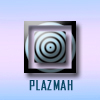 "plazmah: Abstract circle and square with ""plazmah"" underneath (misc: water pot)"