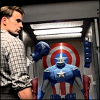 liviapenn: steve looking at his shield and costume in a case (marvel: the first avenger)