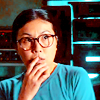 kyriacarlisle: miko from sga, looking worried, with her finger against her lips (Miko)
