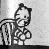 xtina: Hobbes reverts to stuffed form once Calvin takes Ritalin -- the picture is of Hobbes in stuffed form. (adderall, dull, hobbes)
