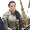 swathkink: snow white sitting on a horse side-eyeing somebody (modly disapproval)