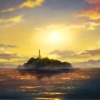 oneill: The Legend of Korra - An establishing shot of Air Temple Island at sunset (Air Temple Island)