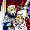 oneill: Tsubasa RESERVoir CHRoNiCLE - Very young versions of Sakura and Fai D. Fluorite smile serenely at the viewer (The Princess's Wizard)