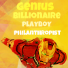 kouredios: Iron Main in flight, with the caption: Genius. Billionaire. Playboy> Philanthropist. (AA!Ironman)