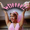 "ifreet: Debbie Reynolds with exultant arms, text ""Whee!"" (Whee! Singing in the Rain)"