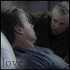 paian: Jack wuzzling Daniel's hair (jd shroud love by me)