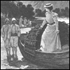 coprime: an awesome lady stepping out of a boat (Jasione montana)