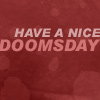 "strina: text only ""have a nice doomsday"" (go - doomsday)"