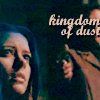 "strina: illyria in close-up with faceless wes holding gun to her head caption ""kingdom of dust"" (illyria - kingdom)"