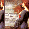 "strina: john waterhouse art of woman looking out to sea caption ""to all of the mythic heroines who line the sea"" (art - mythic heroines)"