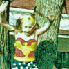 bluejaybirdie: little girl dressed as Wondy jumping out of tree (WW Joy)