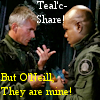 thothmes: Teal'c holds crystals possessively, while Jack speaks (Teal'c...Share!)