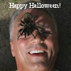 thothmes: A large spider crawls on RDA's face (Spider Happy Halloween)