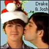 ext_2780: photo of Josh kissing drake from a promo for Merry Christmas Drake & Josh (d&j d&j mcd&j promo kiss - by aizjanika)