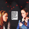 sansets: Rory Gimore and Paris Geller from the TV show Gilmore Girls looking at each other (Rory/Paris)