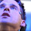 darkmoore: Cam in chair, blue light (Cam memories)