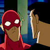 darkhavens: wide-eyed Wally!Flash and Batman de-cowled (batflash wow! {literati})