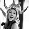 agalinis: Greta Salpeter with a dead animal on her head (THS: Medicine Greta)