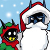 drakyndra: Everything is awesome when The Dark Cat draws it (Batman: Bat Santa)