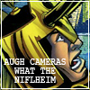 "joysweeper: Loki freaks out.  ""AUGH CAMERAS WHAT THE NIFLHEIM"" (WHAT THE NIFLHEIM)"