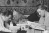 onyxlynx: BxW F. Lang & T. von Harbou each reading. (Fritz Lang Thea von Harbou)