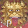 el_staplador: A mediaeval lion sticks his tongue out (:-P)