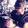"apollymi: Hicks, text reads ""My hero"" (Aliens**Hicks: My hero)"