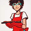 cyan_maid: Jane is pleased to help bake in all red (Happy to help!)
