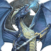 sam_bluesky: a Blue Dragon holding a Sword (dragon y espada - karian'd y devania)
