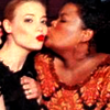 mona: shirley and britta from community homosocially bond. kissy kissy. (shirley/britta)