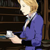 liberal_gallifreyan: Romana in Chronotos' room with a cup of tea (quite pleasant actually)