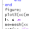 medrin: matlab code with everything but 'hold on' blurred (Default)