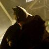 hatman: Batman (Christian Bale) hunched and brooding (brooding)