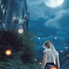 rionaleonhart: final fantasy versus xiii: a young woman at night, her back to you, the moon high above. (nor women neither)