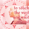 "sashajwolf: Profile of Daenerys from Game of Thrones with the quotation ""to go west you must go east"" (to go west)"