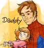 lamashtar: Peter Parker and his baby daughter (Spiderdaddy)