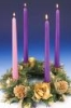 anchorhold: Advent wreath with rose candle (advent)