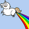 7rin_on_adoption: The elusive rainbow-farting unicorn! (rainbow, unicorn)