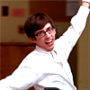 vibrantharmony: Artie with arms wide out (Glee Artie grins)