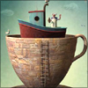 rane_ab: Boat in a cup (A cup of boat)